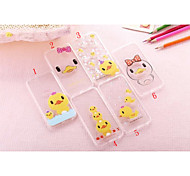 Cute Duck Slim Transparent Mobile Phone Soft Shell for iPhone 5/5S (Assorted Colors)