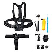 8 en 1 kit d'accessoires de l'appareil photo de sport pour GoPro Hero 4/3 + / 3/2/1 / sj4000 / sj5000 / sj6000 / xiaomi yi