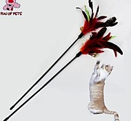 Cat Toy Pet Toys Teaser Feather Toy Bell Red Textile