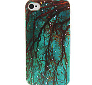 Blue Beautiful  Pattern TPU Phone Case for iPhone 4/4S