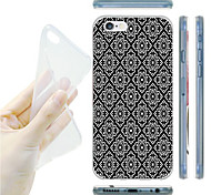 For iPhone 6 Case / iPhone 6 Plus Case Ultra-thin / Pattern Case Back Cover Case Black & White Soft TPUiPhone 6s Plus/6 Plus / iPhone