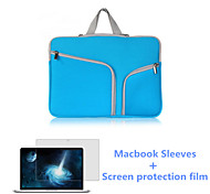 bolso de la manga del ordenador portátil de la cremallera de mayor venta y hd flim pantalla para el macbook retina 15,4 pulgadas (colores