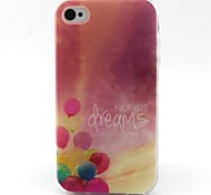 Balloon Pattern TPU Material Soft Phone Case for iPhone 4/4S