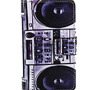Speaker Pattern PU Leather Painted Phone Case For Nokia N435