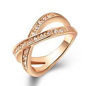 Z&X® Zircon Cross Statement Rings Wedding/Party/Daily