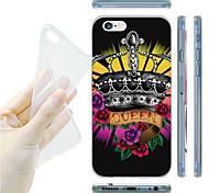 Krone-Muster-TPU weiche Tasche für iPhone 6