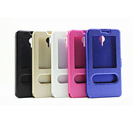 Window  Silk Printing Pu Stand Mobile Phone Shell  Fashion  for Meizu M2 Note Assorted Colors