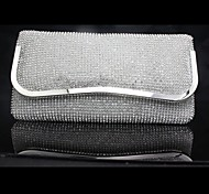 Handbag Satin/Silk Evening Handbags/Clutches/Cross-Body Bags/Mini-Bags/Wallets & Accessories With Crystal/ Rhinestone