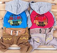 Blue/Pink Fashion Pet Cowboy Clothes Cotton Hoodies For Dogs