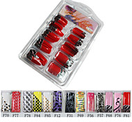 70 Pcs Half-cover Beautiful French Acrylic Nails Tips 13 Colors Available
