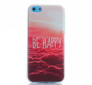 Red Cloud pattern TPU material Phone Case for iPhone 5C