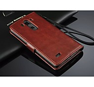 PU Leather Wallet Pattern Full Body Case with Card Holder for LG G3(Assorted Color)