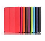 8 inch triple vouwpatroon hoge kwaliteit pu lederen case voor de Galaxy Tab een 8,0 T350 (verschillende kleuren)