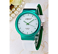 Women's Simple Jelly Silicone Band Quartz Analog Watch