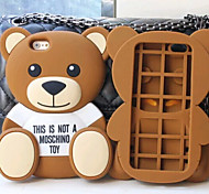 Silicone Material Cute Bear Design for iPhone 5/5S