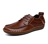 Men's Shoes Office & Career/Casual Leather Oxfords Brown/Khaki