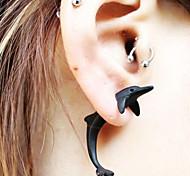 HUALUO®Punk Piercing Cute Dolphin Earrings