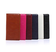 5.2 Inch Burnished Pattern Luxury PU Wallet Leather Case with Stand for Sony Z4(Assorted Colors)