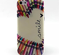 Colorful Crayons  Pattern TPU Phone Case for iPhone 5C