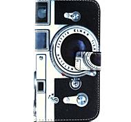 Retro Camera Pattern PU Leather Phone Case For  Galaxy J1/Galaxy Grand 2 G7106