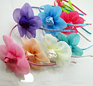 3Pcs Beautiful Girl's Rose Flower Headband (set of 3 Different Random Color)