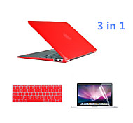 2016 Newest  PVC MacBook Case with Keyboard Cover and Screen Flim for  MacBook 12 inch