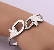 Classic Fashion Pansy Stainless Steel Bracelet