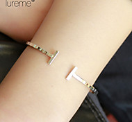 Lureme® Europestyle Brief Strip-Type Copper Cuff Bracelet