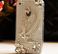Diamond  Following From Elves Pattern Hard Back Case for iPhone4/4S