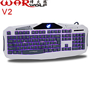 Waterproof  Professional Wired USB Luminous Gaming  Keyboard  With System Windows2000.XP(PS2-SP3)