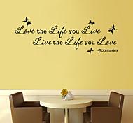 стены стикеры наклейки для стен стиль жизни любовь живые английских слов&цитирует наклейки ПВХ стены