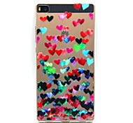 Back Cover Ultra-thin Heart TPU Soft Case Cover For Huawei Huawei P8 / Huawei P7