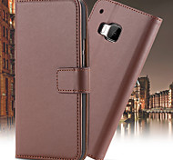 Genuine Leather Wallet Case for HTC M9 (Assorted Colors)