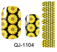 Beautiful Flower Fairy Sunflower Nail Art Stickers