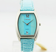 Women's Analog Alloy Case Square Dial Pu Band Quartz Watch Women Business Watch Gift Watch(Assorted Colors)