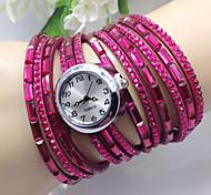 strass luxo colorido mulheres envoltório vestido relógio de quartzo pulseira moda Senhoras relógios de pulso