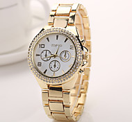 2015 Luxury Casual Gold Watch Stainless Steel Watch Dress Watches Crystal Electronics 2015 Reloj Watch