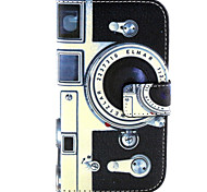 Kamera-Muster PU-Leder Material Karte Ganzkörper für Samsung-Galaxie J1 / galaxy grand 2 g7106