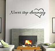 стены стикеры стены наклейки стиль nerer перестать мечтать английские слова&цитирует наклейки ПВХ стены