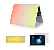 """3 in 1 Rainbow Matte Full Body Case with Keyboard Cover and Screen Protector for Macbook Retina 12"""" (Assorted Colors)"""