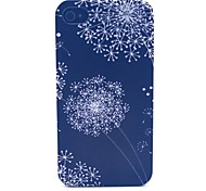 Black Dandelion Pattern PC Material Phone Case for iPhone 4/4S