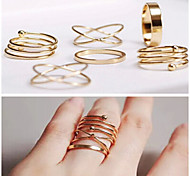Fashion Metal Rings Ring Set(1 Set)