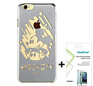 "Disney Mickey Mirror Effect Cover Case for Iphone6 4.7"" Free with Headfore Screen Protector for Iphone6 4.7"""