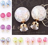 Love Is Your Fashion Candy Color Round Ball Stud Earrings