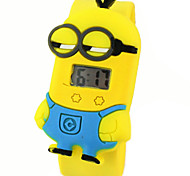 Children's Cute Cartoon Silicone Ultraman Minions Pattern  Lovely Digital Calendar Water Resistant  Slap Watch