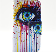 Ink Eye Pattern PU Leahter Full Body Case with Card Slot for Samsung Galaxy Core Prime G360 G3606 G3608