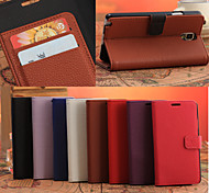Litchi Texture Leather Case with Card Slots and Holder for Galaxy Note 3