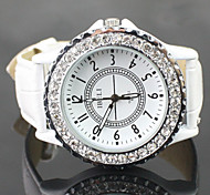 Women's Shinning Design PU Analog Quartz Wrist Fashion Watch Cool Watches Unique Watches