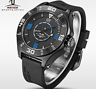 WEIDE® Men Universe Series Military Watch Black Silicone Strap