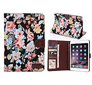 Flower Style PU Leather Case Card Slots & Wallet with Holder for iPad mini 2/3 (Assorted Colors)